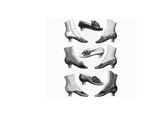 Zapatos Del Siglo Xix
